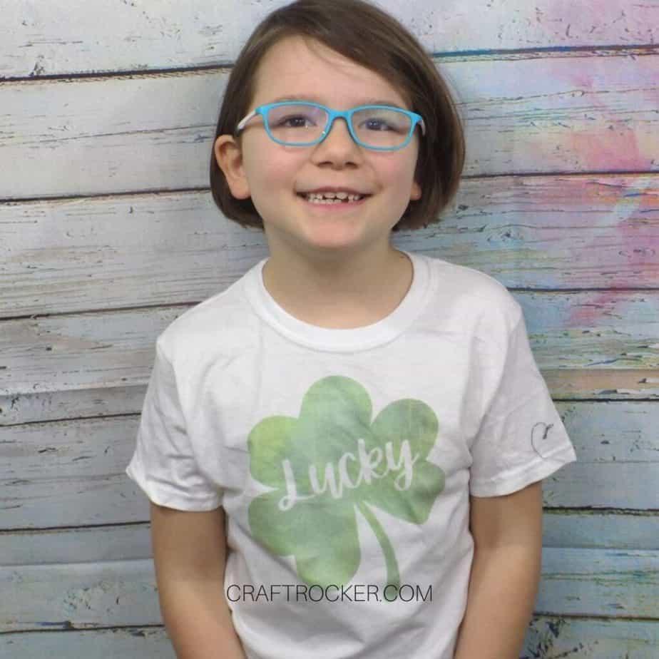 Girl Wearing Saint Patricks Day T-Shirt - Craft Rocker