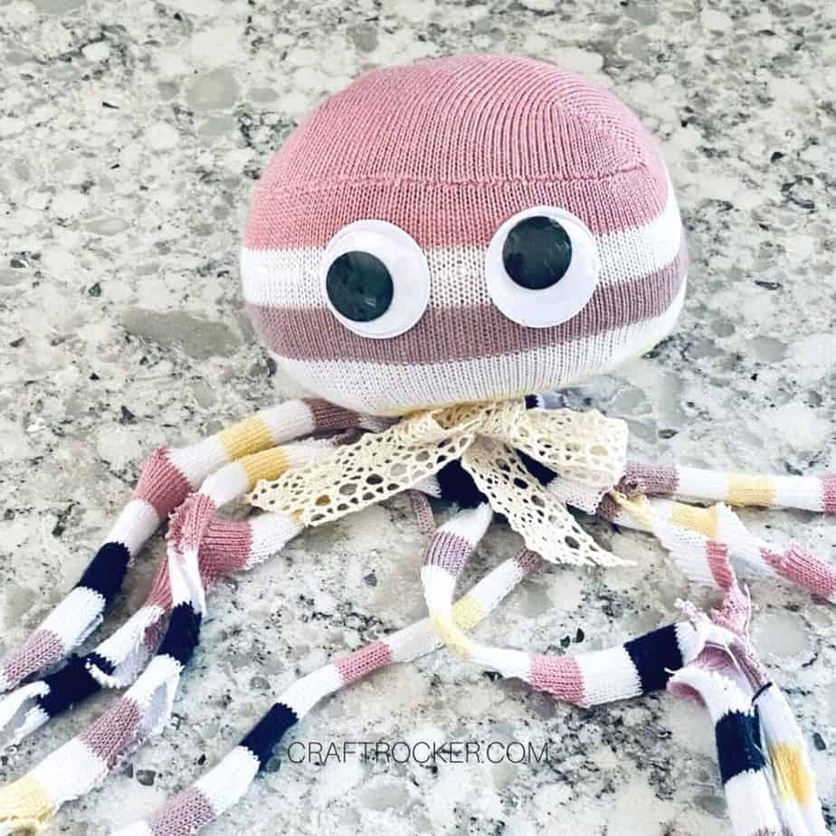 Googly Eyes Glued to Octopus Toy - Craft Rocker