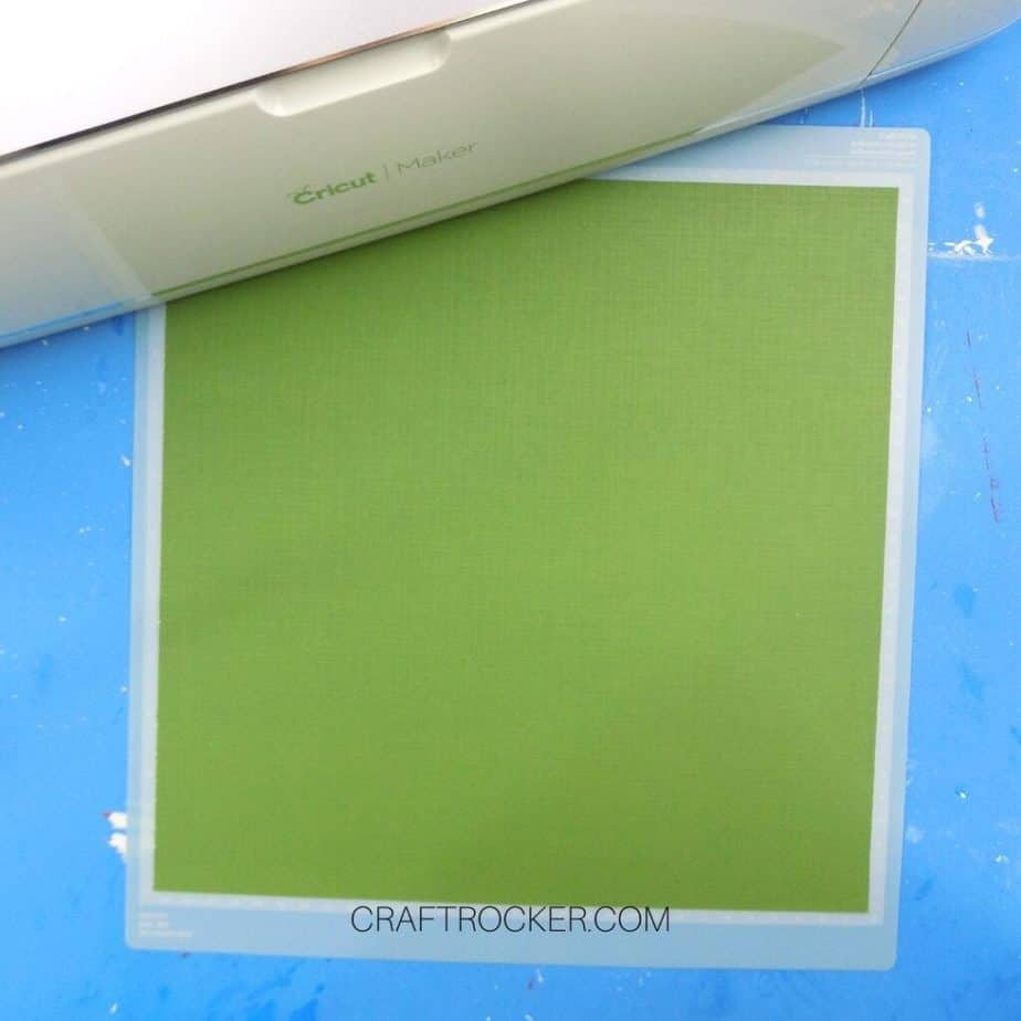 Green Cardstock on Cricut Cutting Mat - Craft Rocker