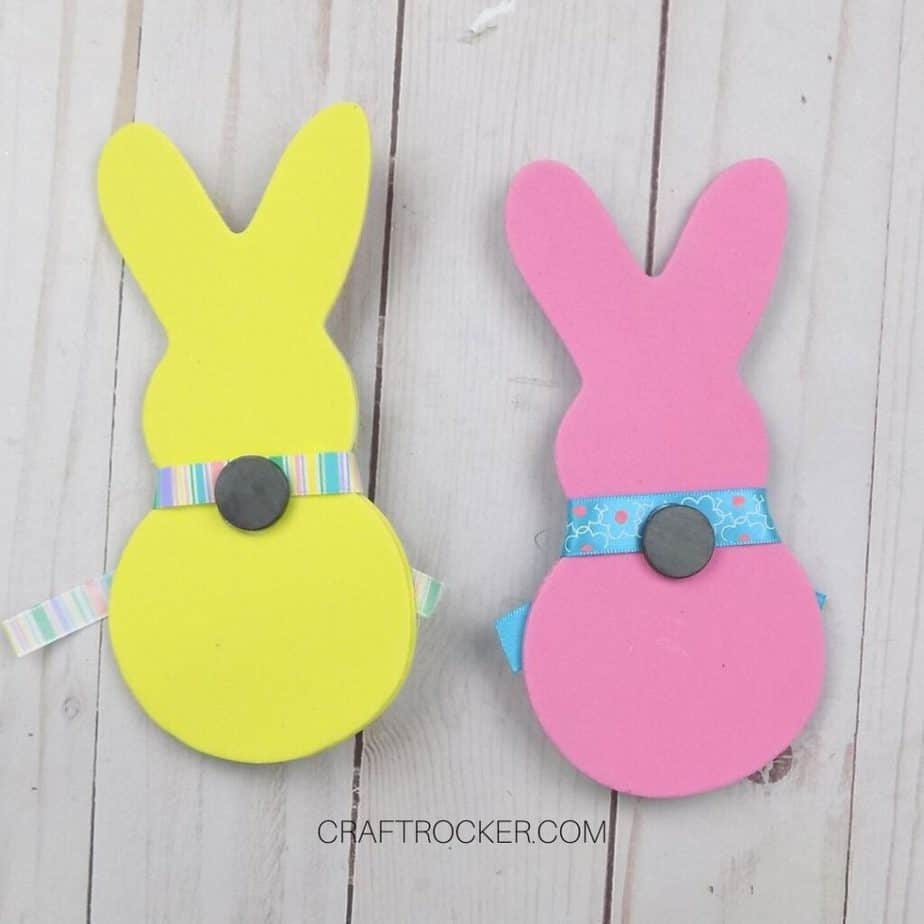 Magnets Glued to Back of Bunnies - Craft Rocker