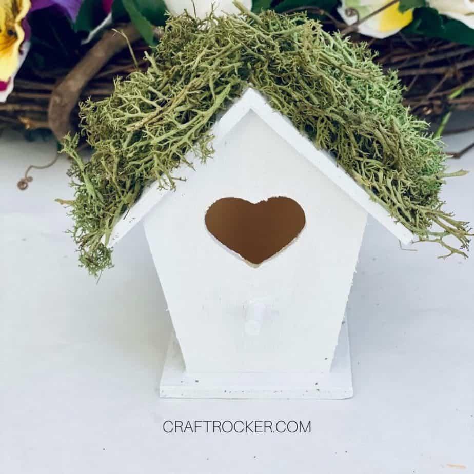 Moss Glued to Roof of Birdhouse - Craft Rocker