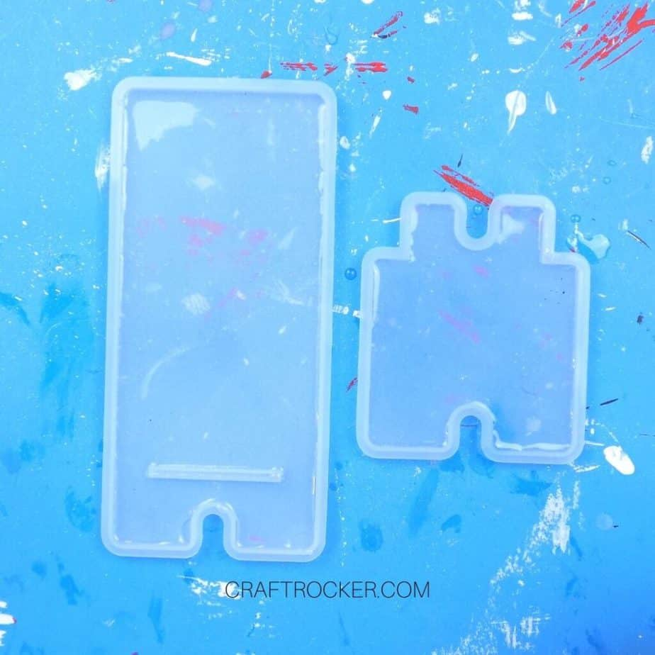 Resin in 2 Silicone Molds - Craft Rocker