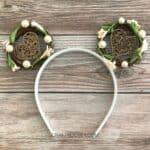 Woodland Mouse Ears on Wood Background - Craft Rocker