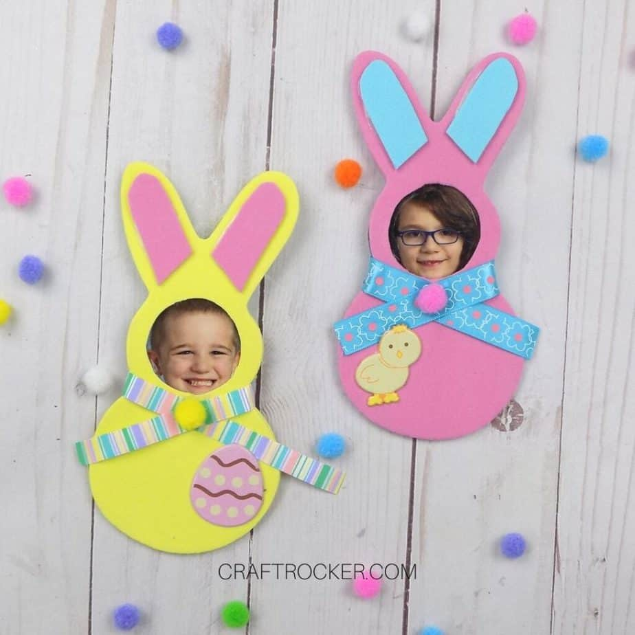 Yellow and Pink Bunny Magnets - Craft Rocker