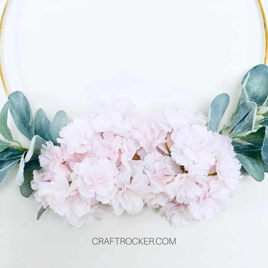 Bottom of Floral Gold Hoop Wreath - Craft Rocker