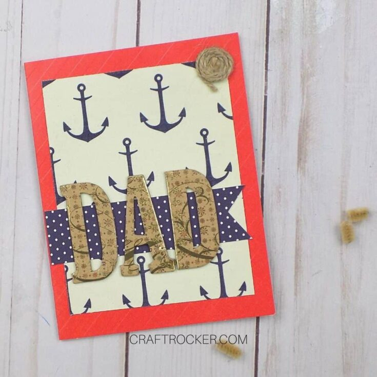 Close Up of Nautical Father's Day Card on Wood Background - Craft Rocker