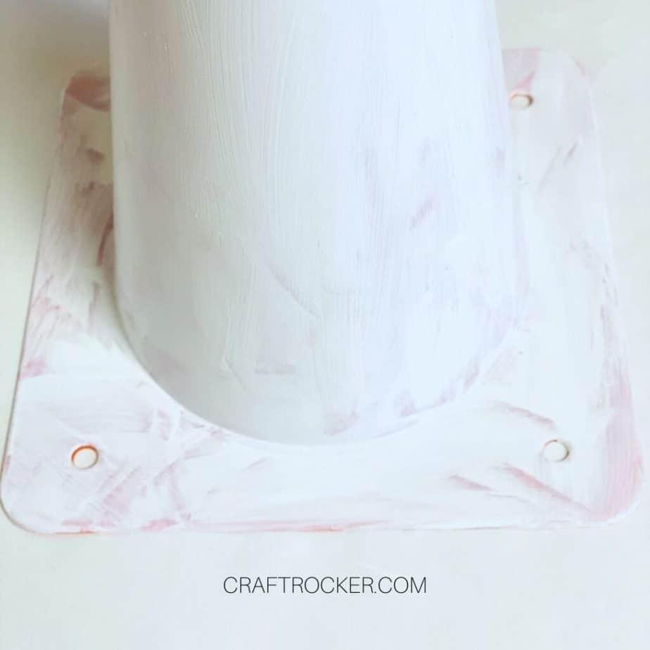 Close Up of White Paint on Bottom of Orange Safety Cone - Craft Rocker