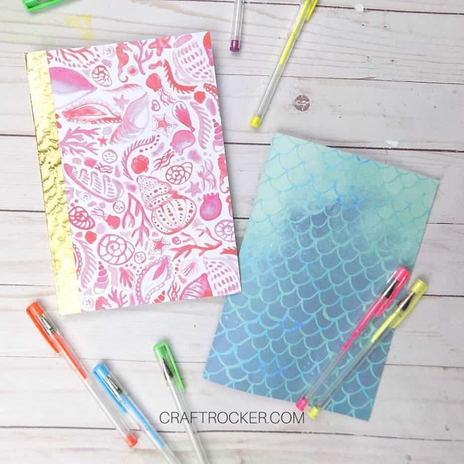 DIY Notebooks next to Gel Pens - Craft Rocker
