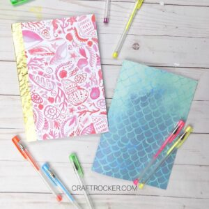 DIY Notebooks next to Gel Pens - Craft Rocker