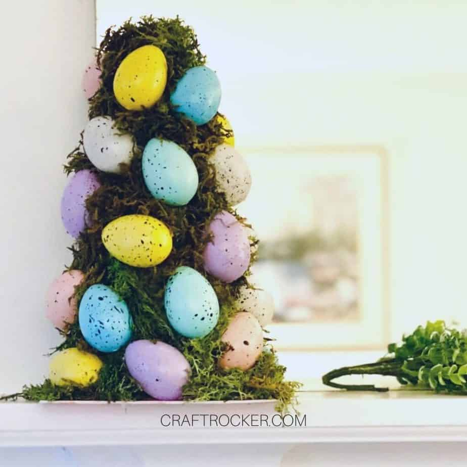 Easter Egg Topiary on Mantle - Craft Rocker