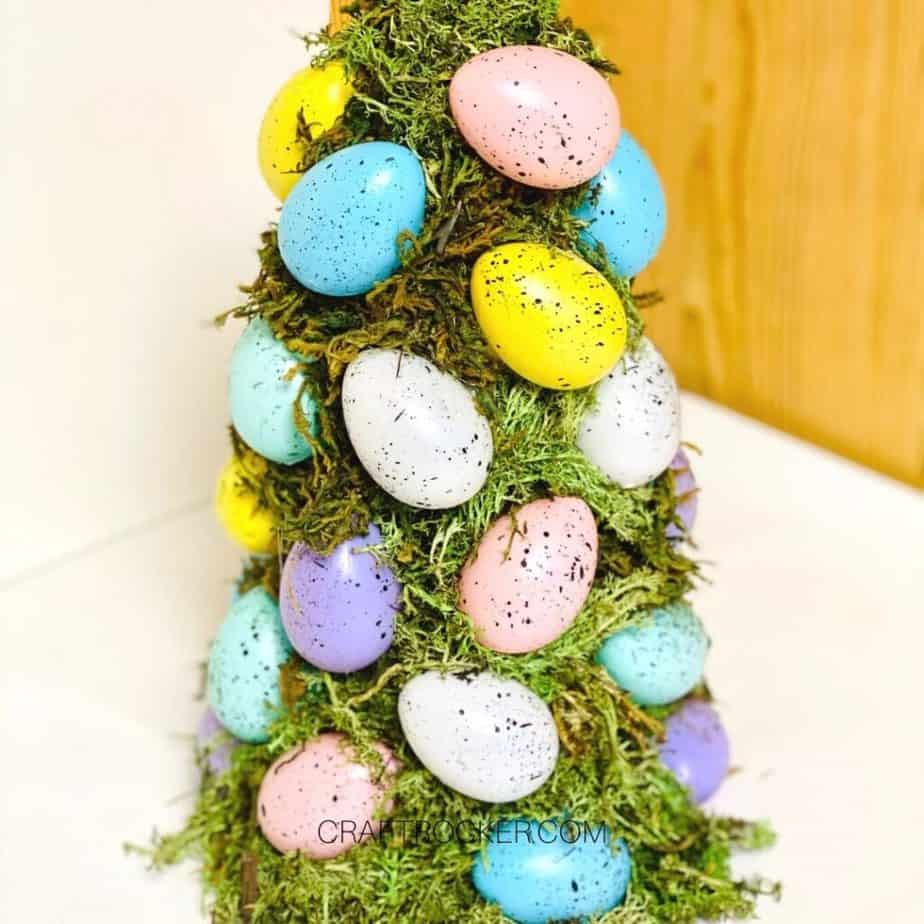 Easter Egg and Moss Covered Cone - Craft Rocker