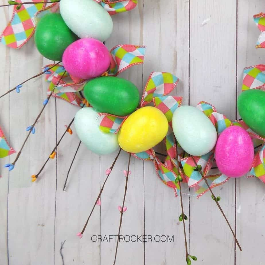 Easter Floral Sprays Glued to Wreath - Craft Rocker
