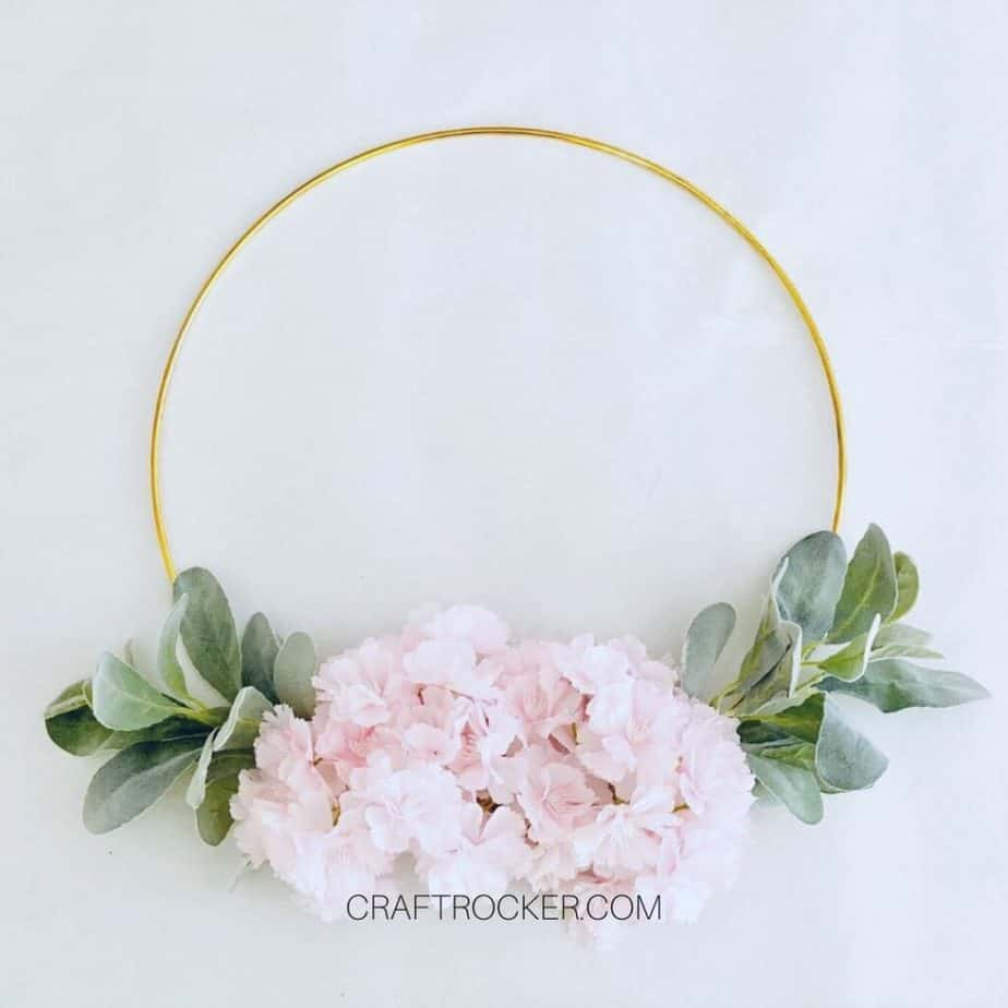 Flowers and Greenery on Gold Hoop - Craft Rocker
