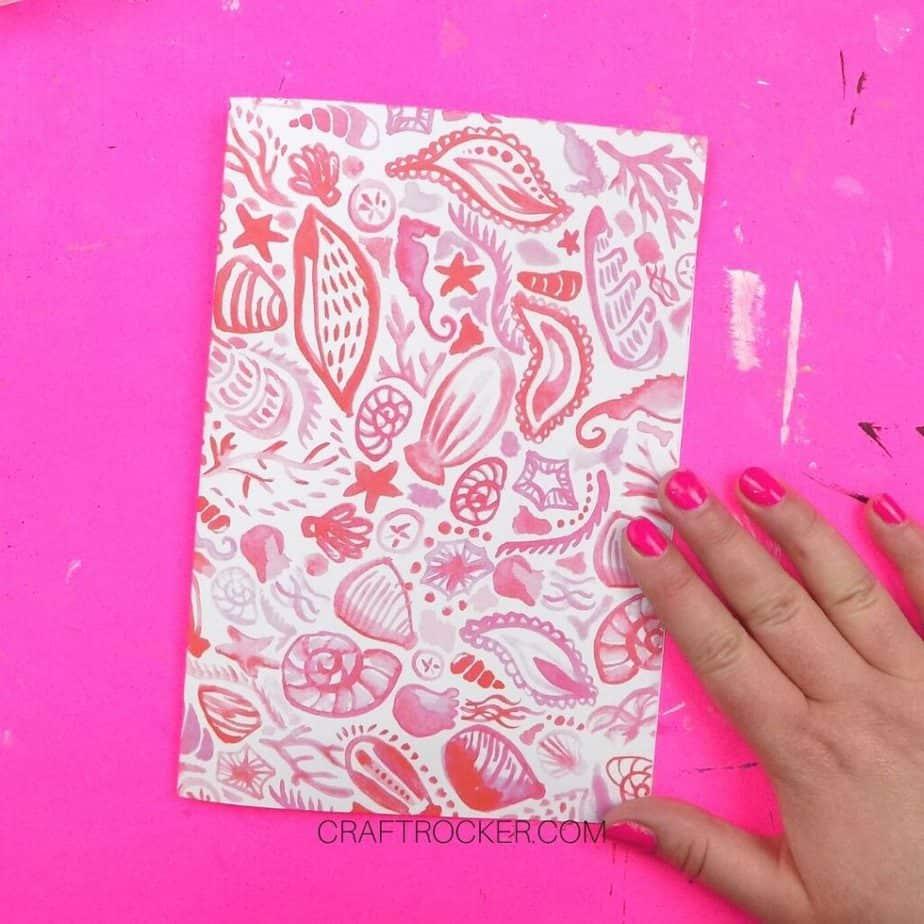 Folded Piece of Decorative Cardstock - Craft Rocker