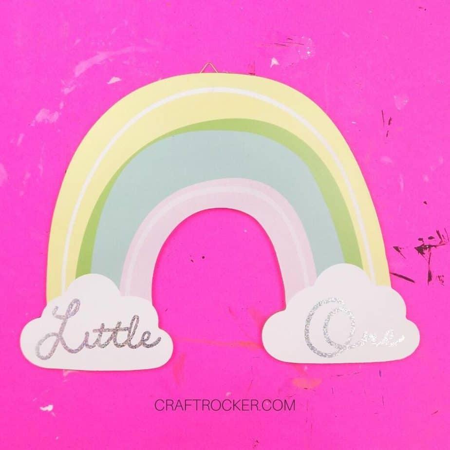 Little One Rainbow Wall Hanging - Craft Rocker