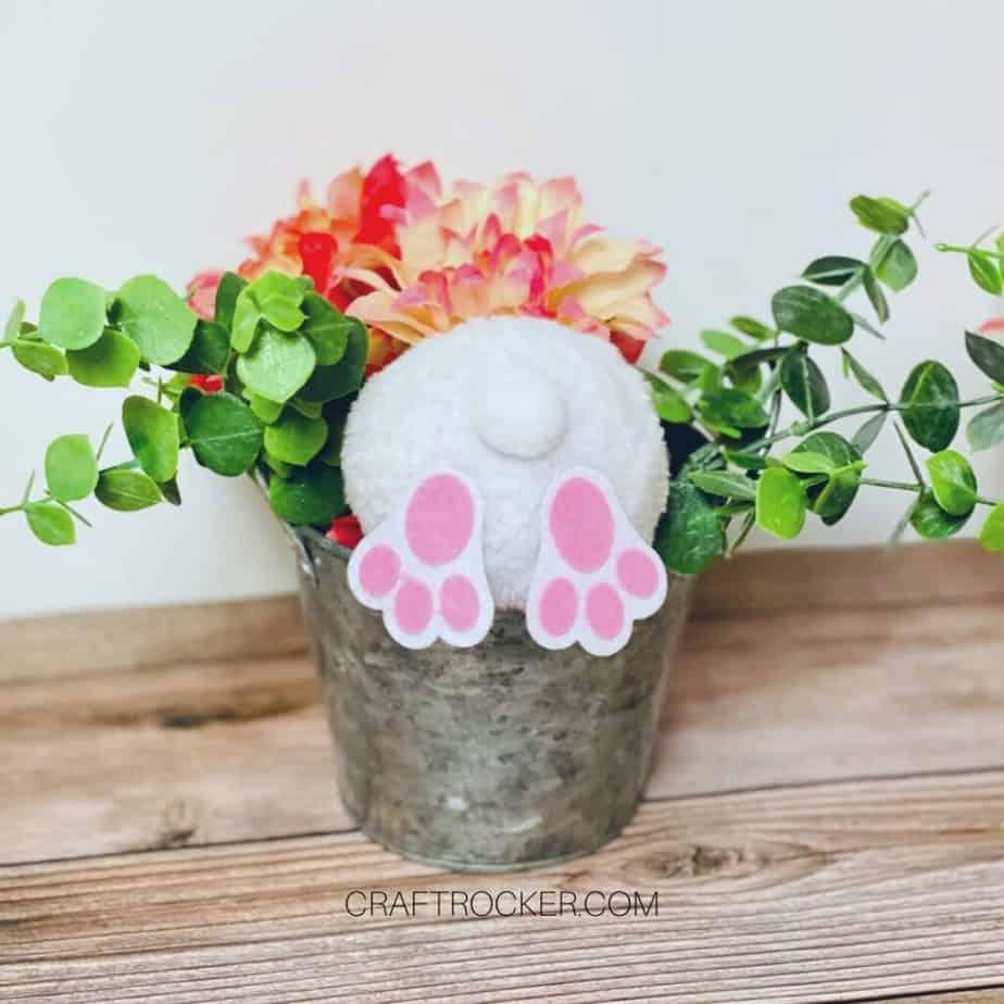 Pink Bunny Butt in Floral Arrangement - Craft Rocker