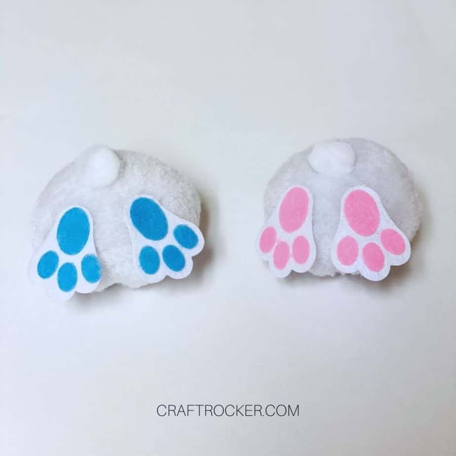 Pink and Blue Bunny Butts - Craft Rocker