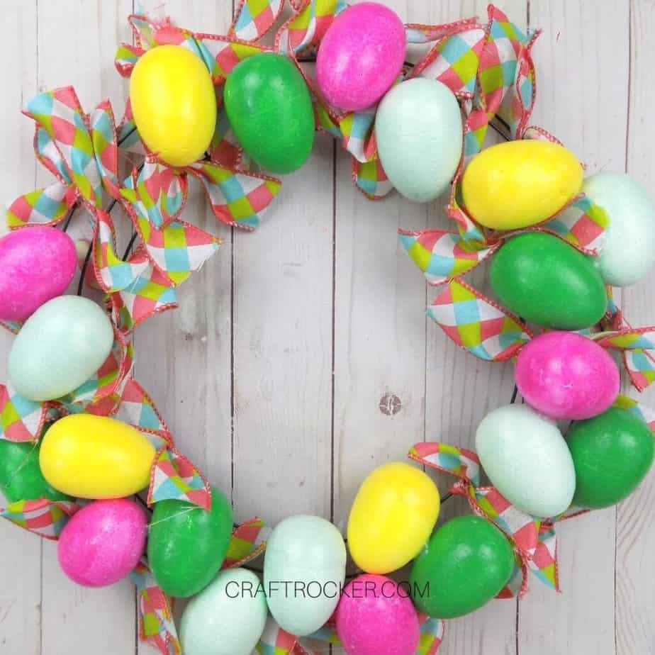 Ribbons Tied to Egg Wreath - Craft Rocker