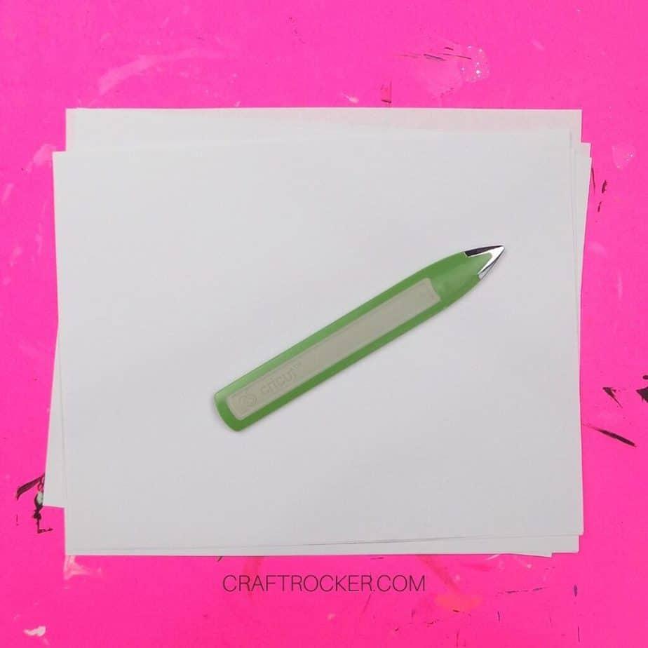Stack of Plain White Paper with Bone Folder on Top - Craft Rocker