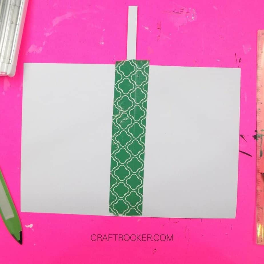 Taped Pieces of Cardstock - Craft Rocker