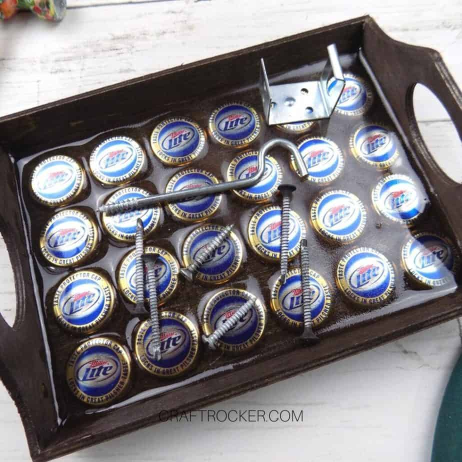Close Up Magnetic Wood Tray with Screws and Hooks - Craft Rocker