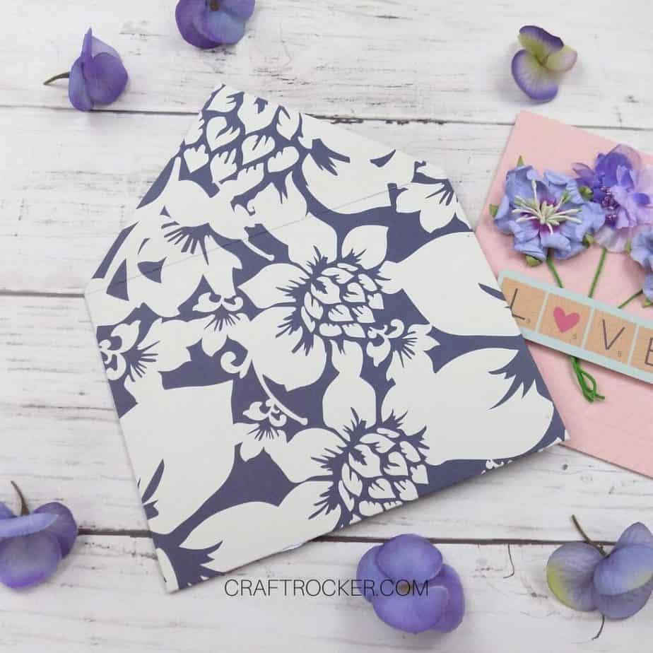 Close Up of Back Decorative Envelope on Wood Background - Craft Rocker