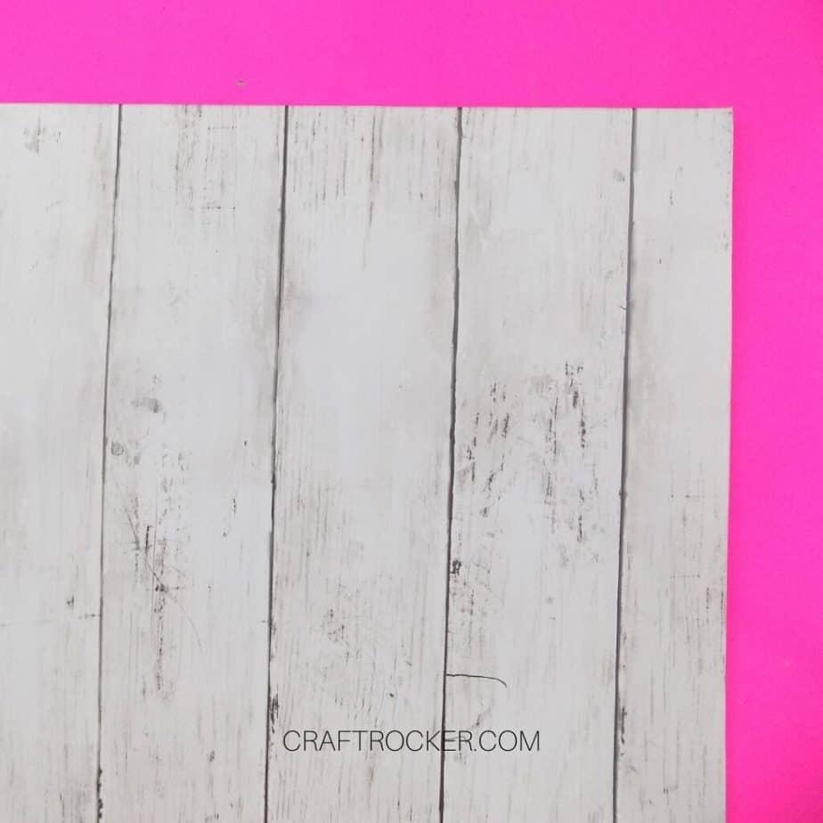 Close Up of Faux Wood Paper on Foam Board - Craft Rocker