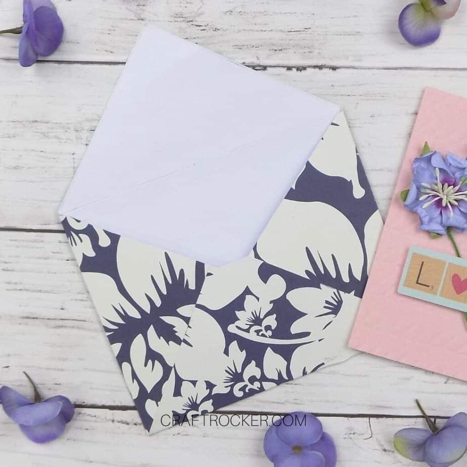 Close Up of Open Decorative Envelope on Wood Background - Craft Rocker