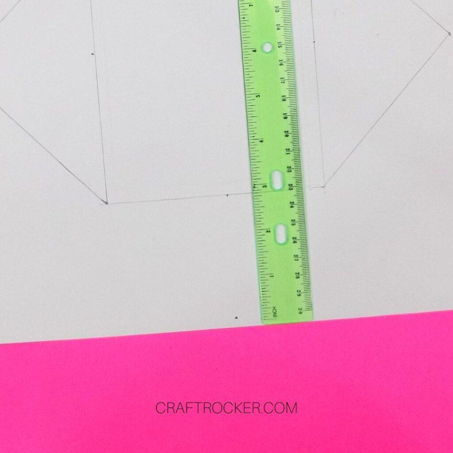 Close Up of Pencil Lines and Ruler on Cardstock - Craft Rocker