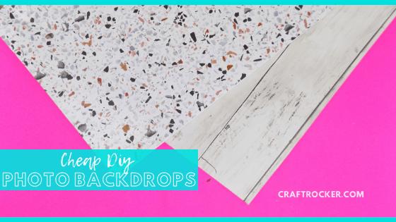DIY Photo Boards with text overlay - Cheap DIY Photo Backdrops - Craft Rocker (1)