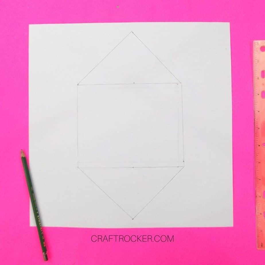 Diamond Drawn on Back of 12x12 Cardstock - Craft Rocker
