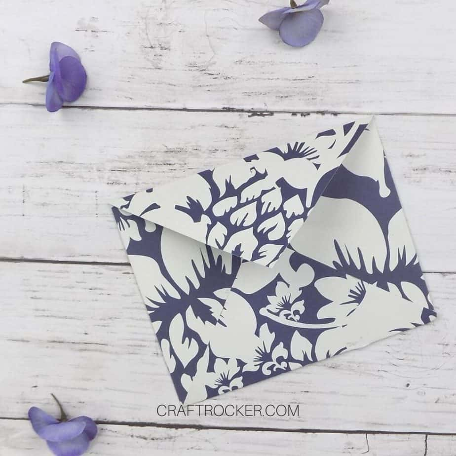 Handmade Paper Envelope Next to Flowers on Wood Background - Craft Rocker