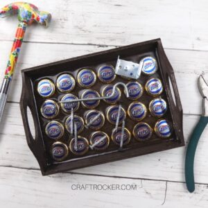 Magnetic Wood Tray next to Tools - Craft Rocker