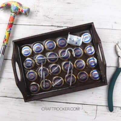 Upcycled Bottle Caps Magnetic Tray