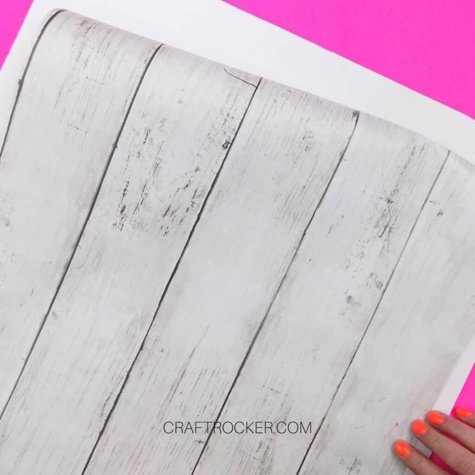 Piece of Reusable Wallpaper Being Measured on Foam Board - Craft Rocker