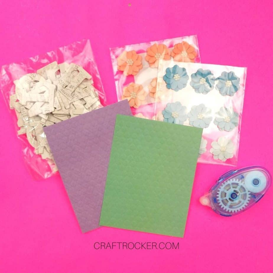 Preformed Cards next to Craft Supplies - Craft Rocker