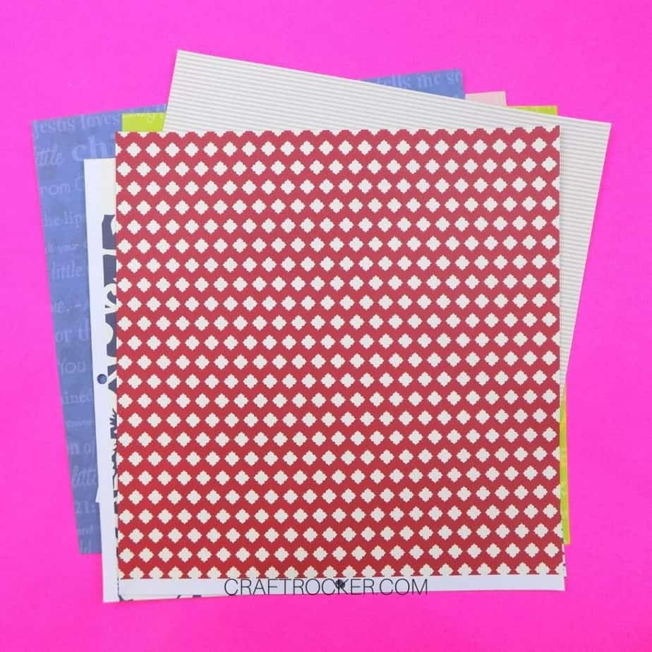 Stack of Pieces of Decorative 12x12 Cardstock - Craft Rocker