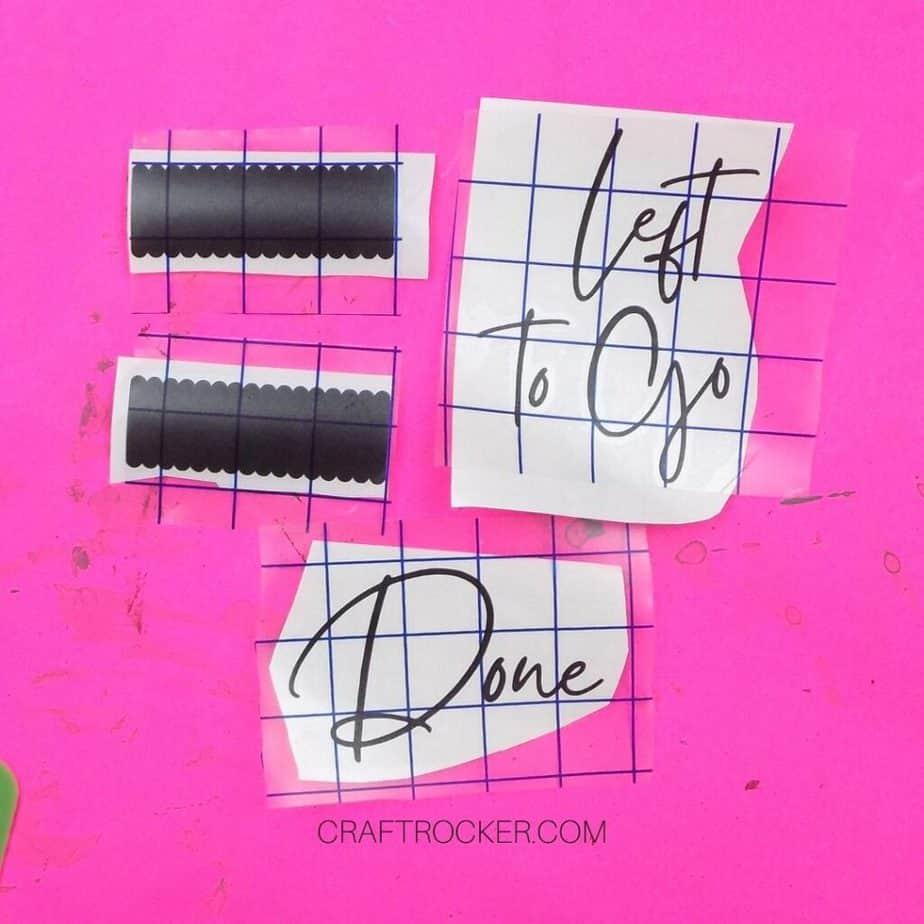 Transfer Tape on Weeded Vinyl Designs - Craft Rocker