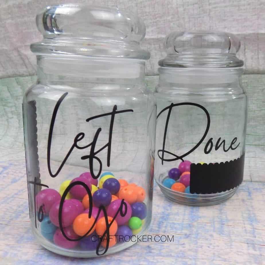 Visualization Glass Jars with Beads Inside - Craft Rocker