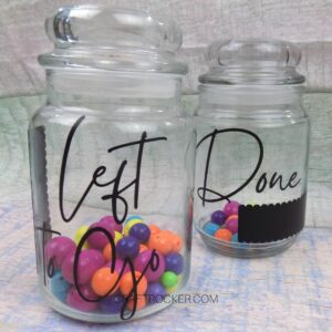 Visualization Glass Jars with Beads Inside - Craft Rocker