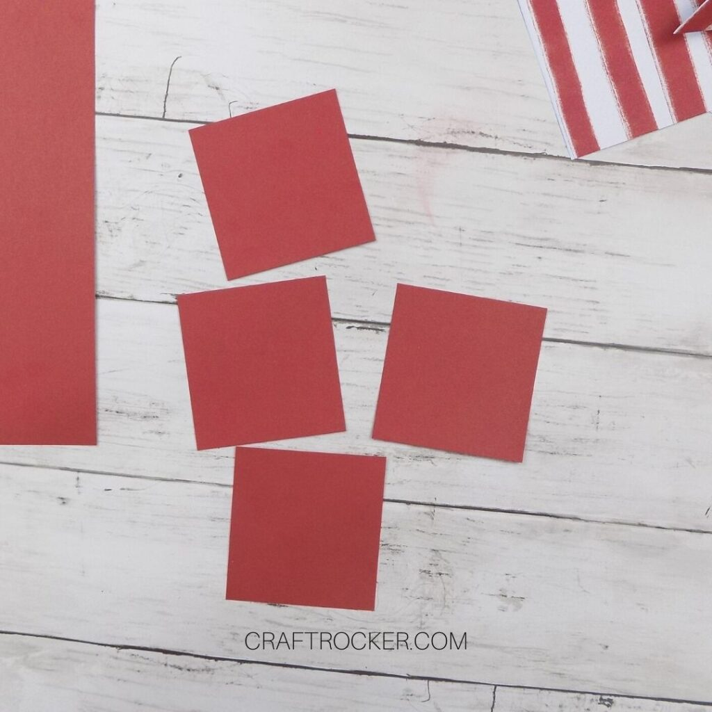 4 Small Squares of Red Paper - Craft Rocker