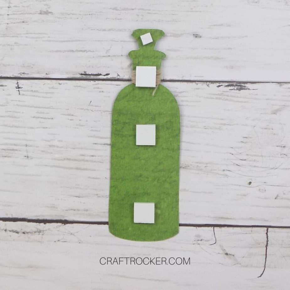 Adhesive Foam Squares Attached to Back of Poison Bottle Embellishment - Craft Rocker