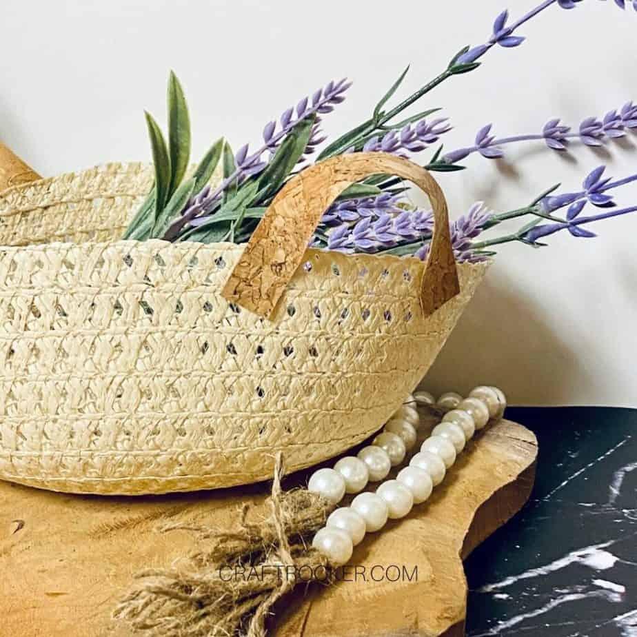 Close Up Sun Hat Basket with Flowers - Craft Rocker