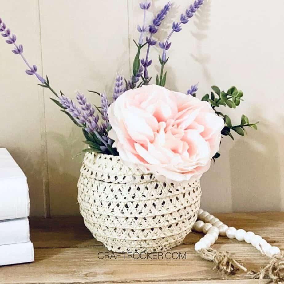 Close Up of Flowers in Sun Hat Vase - Craft Rocker
