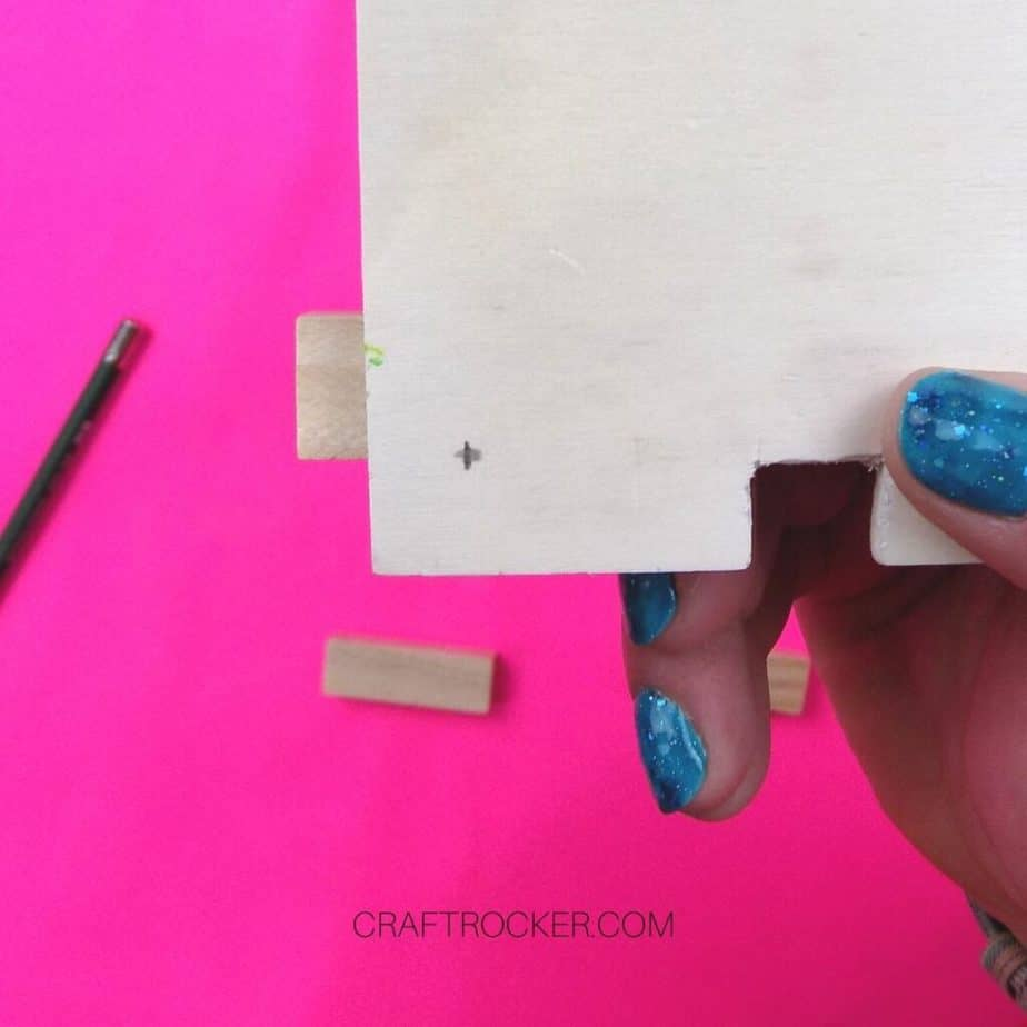 Close Up of Pencil Mark on Back of Heart Frame - Craft Rocker