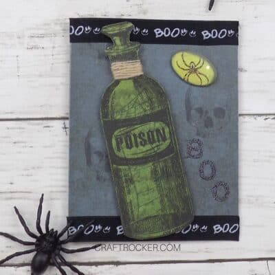 Poison Bottle DIY Halloween Card