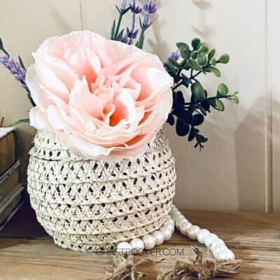 Sun Hat Summer Vase