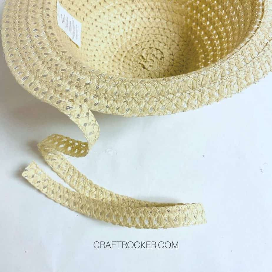 Partially Unraveled Brim of Sun Hat - Craft Rocker