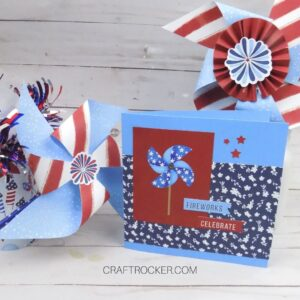 Patriotic Paper Crafts on Wood Background - Craft Rocker