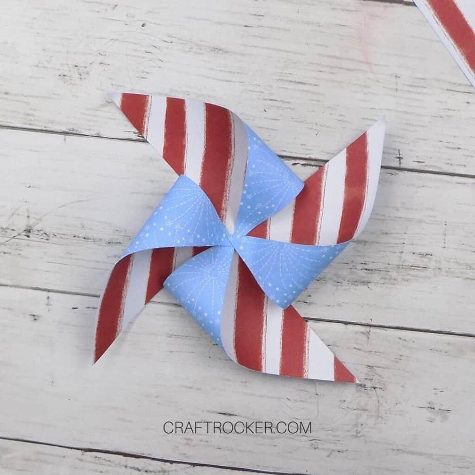 Patriotic Paper Pinwheel - Craft Rocker
